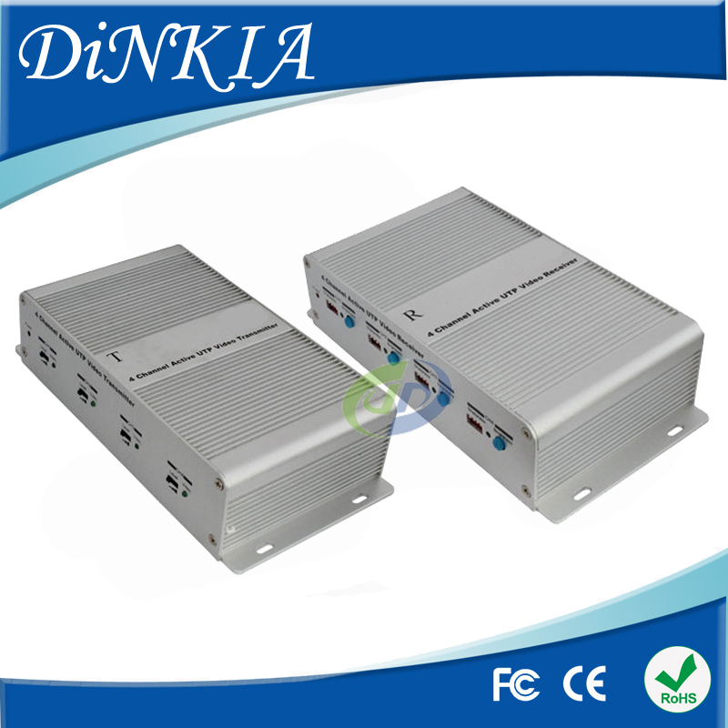 3 Years Warranty 4 channel Active Video Balun for CCTV,BNC to UTP RJ45 Twisted Video Balun aAive Receiver DS-UA0411C(R+T)(China (Mainland))