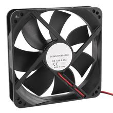 HOT SALE!E 120mm x 25mm 12V 2Pin Sleeve Bearing Cooling Fan for Computer Case(China (Mainland))
