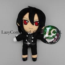 Black Butler Kuroshitsuji 25cm Sebastian Cosplay Soft Plush Toys Stuffed Toy Black Free Shipping(China (Mainland))
