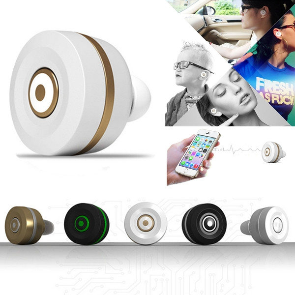 New High Quality Fashion Smallest MiNi Bluetooth Wireless In-Ear Stereo Headphones Headset Earphone With Mic