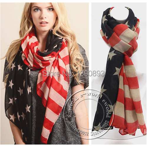2015 New American Flag Scarf 4th of July Vintage USA Flags Desigual Infinity Scarves Pashmina Shawls Hijab Free Shipping A0408(China (Mainland))