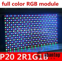 P20 outdoor full color RGB DIP 1/4 scan 320*160mm super bright anti-water 2R1G1B led display module panel for led banner