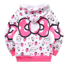 Retail 1pcs 1lot cartoon clothes girls sweater 100 cotton sweater girls clothing hoodie free shipping