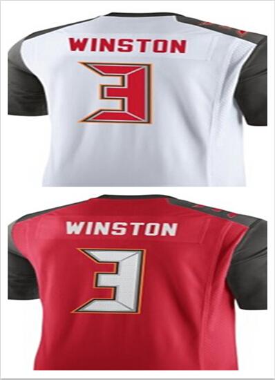 2015 New Tampa Bay #3 Jameis Winston Jersey Cheap Sports Shirts Men's Elite jerseys Stitched American Football Jersey red White(China (Mainland))