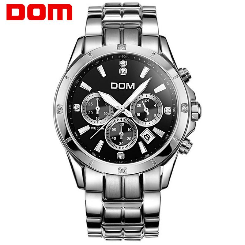 Dom watch multifunctional mens watch luminous steel sheet timep waterproof sports casual male watch(China (Mainland))