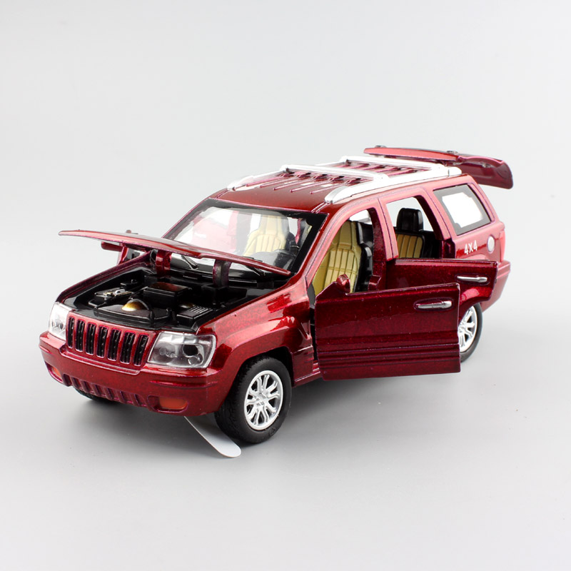 1:32 Scale miniature children styling kids Jeep Cherokee pull back sound light metal model car diecasts toys gifts for boys 2017(China (Mainland))