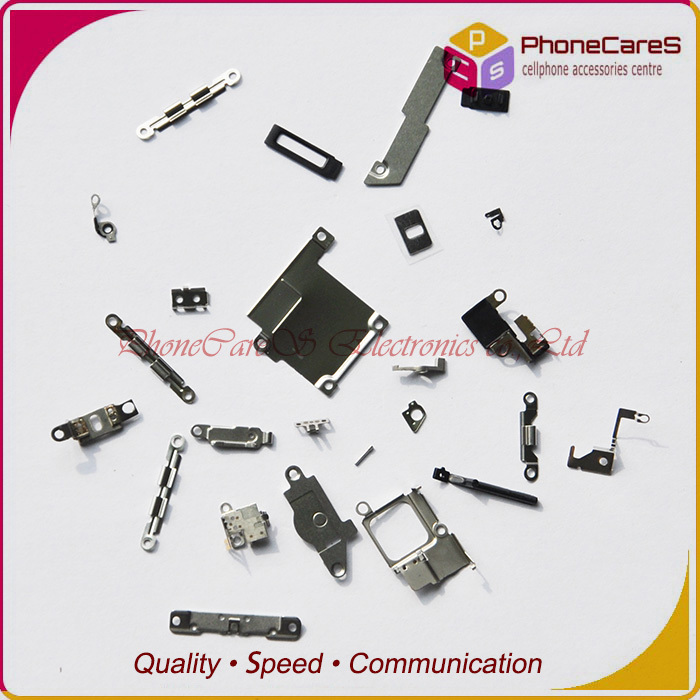 ,21 inner small parts set iphone 5S Metal Holder Bracket Shield Plate Kit flex,5 sets/lot - PhoneCares Electronics co.,Ltd store