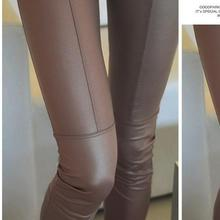 2015 New Sexy Ladies Faux Leather Black Leggings Fashion Pants Black Leather Leggings Trousers(China (Mainland))