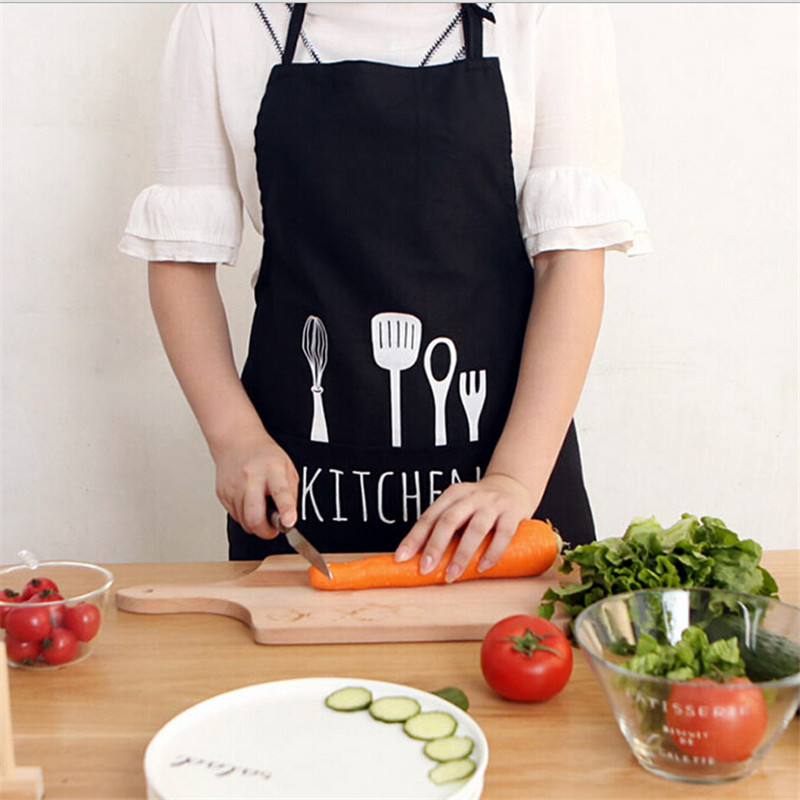 Cooking Apron Kiss Kitchen Apron Commercial Restaurant Adjustable Sleeveless Aprons Home Bib Spun Poly Letter Print Aprons(China (Mainland))