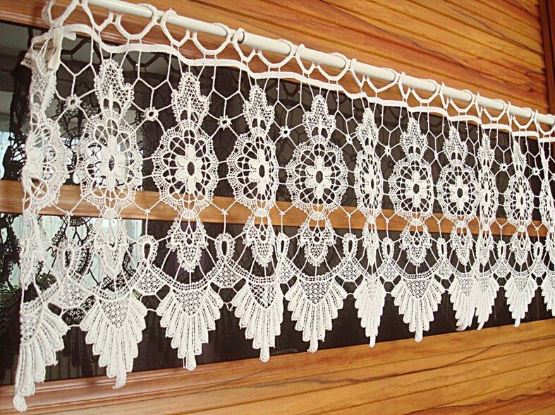 Vintage hechos a mano de ganchillo ventana cenefa for Decoracion del hogar hecho a mano