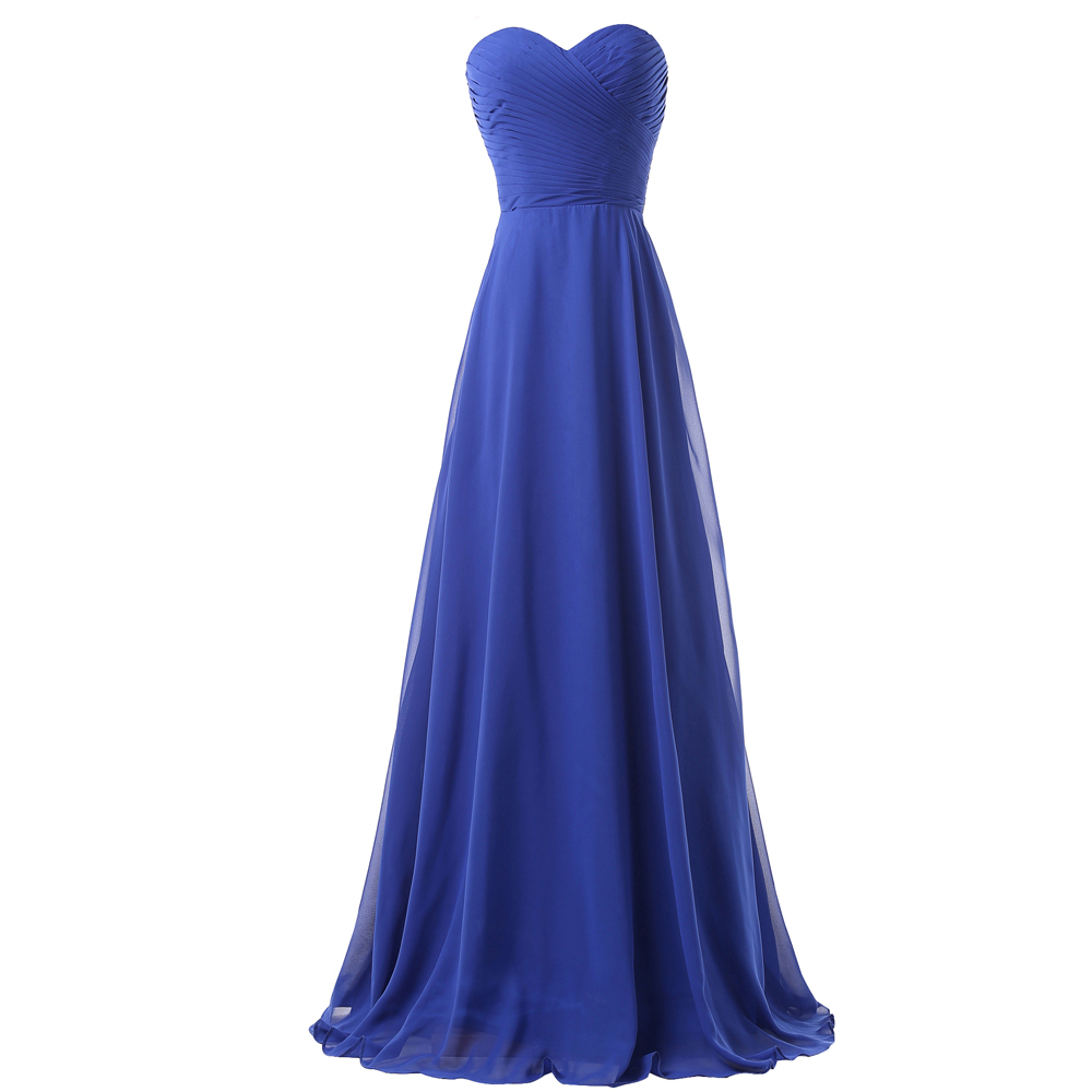 Royal blue bridesmaid dresses for weddings long party for Formal long dresses for weddings
