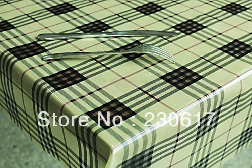 Free Shipping Tc207-R07(6/lot) Soft Glass Table Mats Plastic Table Cloth Waterproof Oil Tablecloth Pvc Table Cover(China (Mainland))