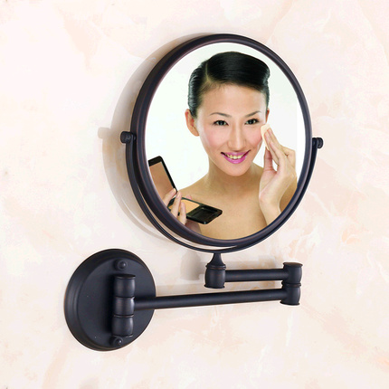 Antique black 8 inch bathroom mirrors magnifying mirror with wall mounting cosmetic mirror bathroom illuminated mirrors 1650R