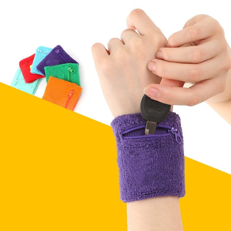 1 pc Outdoor Running Cycling Wrist Band Wallet Safe Storage Wallet Zipper Wrap Sport Strap Bracers Wrister(China (Mainland))