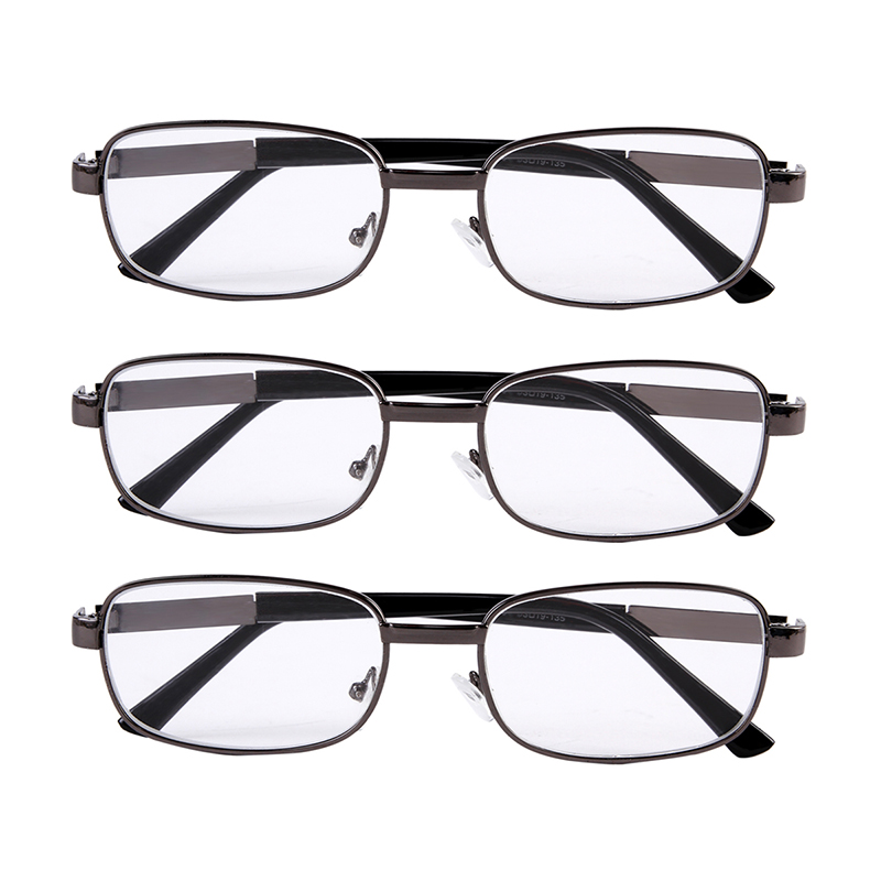 cheap stylish glasses e8ah  3x Reading Glasses Stylish Spectacles Metal Frames Readers Eyeglasses Brand  Eyewear Specs Mens Womens +10