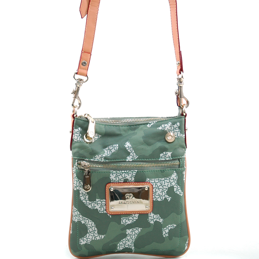 Women's Fashion Camouflage Messenger Bag w/ Gold Accents(China (Mainland))