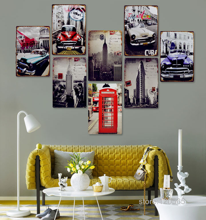 High quality Vintage Metal signs wall decor House Office Restaurant Bar Metal Painting art H-433 Mix order 20*30 CM(China (Mainland))