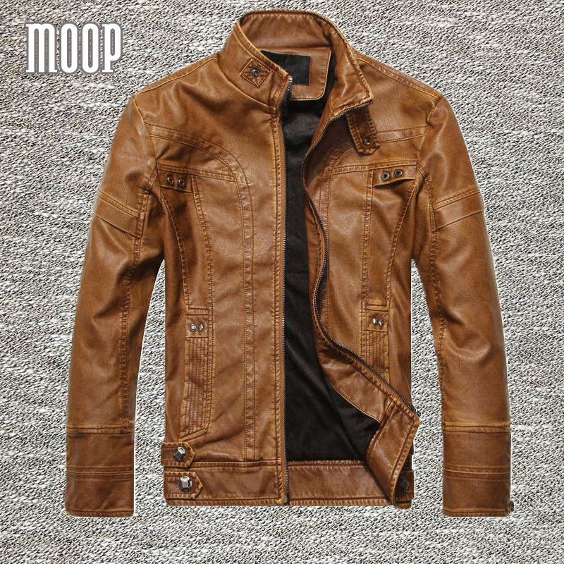 Mens Brown Leather Motorcycle Jackets Promotion-Shop for ...