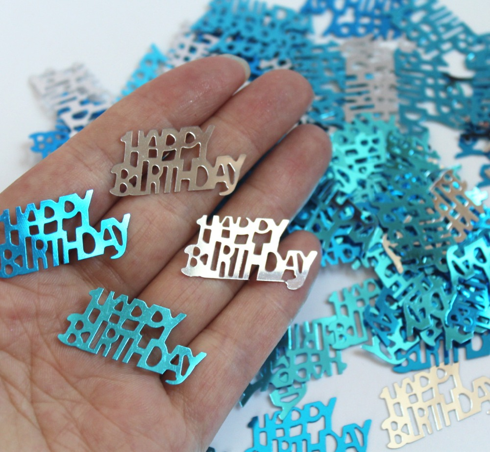 Birthday table decorations boy - Boy Kids Children Male Happy Birthday Party Table Decorations Confetti Foil Sprinkles Blue Glitz Metallic