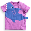 Shark Children T Shirt Boys Girls T Shirt Tees Short Sleeve Shirts Summer Kids Tops Cartoon