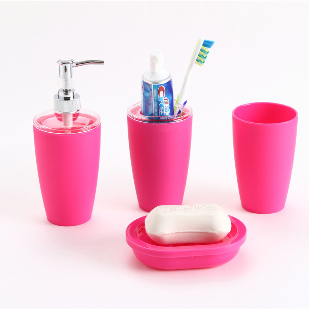 Popular soap dispenser set buy cheap soap dispenser set for Pink bathroom accessories sets
