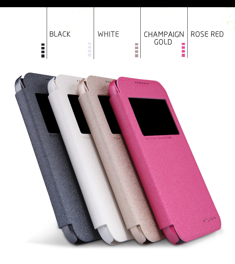Hot sale Nillkin Sparkle leather case for HTC Desire 320 flip case add retail package(China (Mainland))