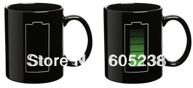 1 шт анимированные батареи кофе кружка цвета изменение кружка