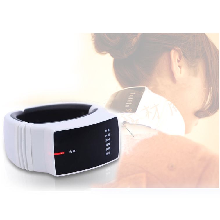 Hot Wireless Remote Control Neck Massager Heat Neck Massager Healthy Care Acupuncture Therapy Instrument Beauty and Healthy(China (Mainland))