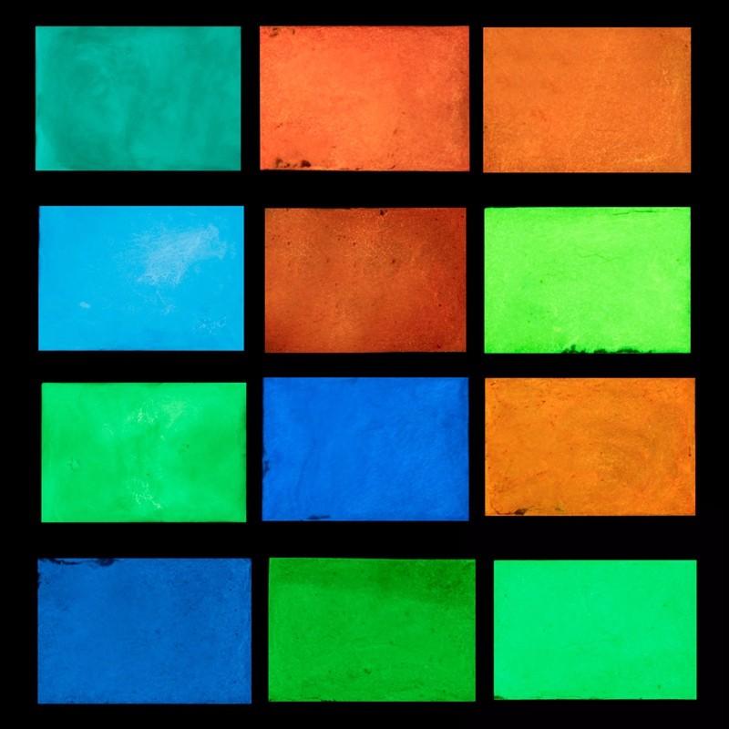 12 Colors No Radiation Luminous Glow Powder Fluorescent Super Bright Glow In The Dark Powder Noctilucent Pigment DIY Art Paint(China (Mainland))