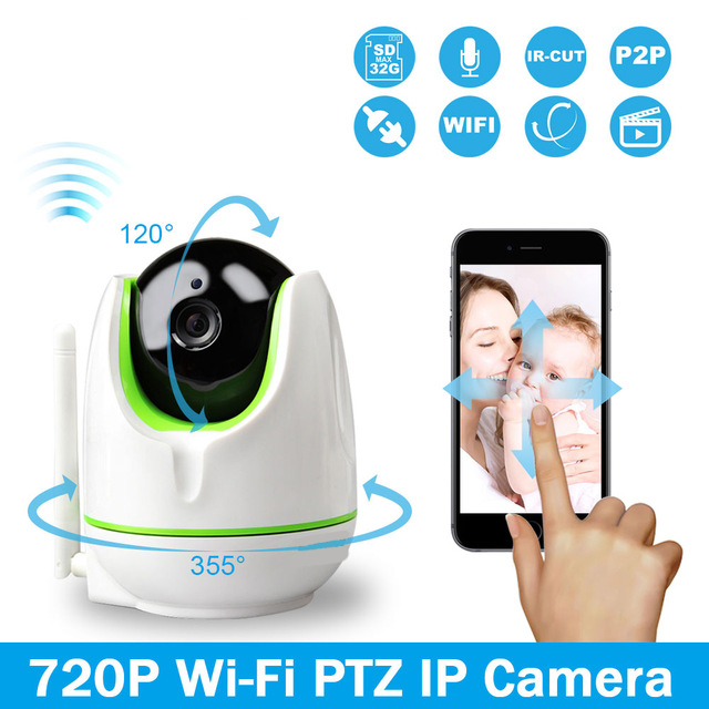 Woshijia WiFi Wireless 720P WiFi IP Camera Two Way Audio Baby Monitor Pan Tilt Security Camera Easy QR CODE Scan Connect(China (Mainland))