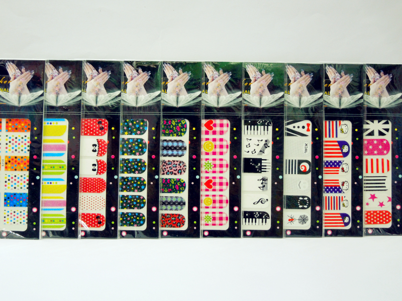 2013 new design nail polish sticker 3d nail art supplies hello kitty flags heart nails wrap 20 designs 500 sheets/lot<br><br>Aliexpress