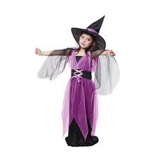 kids cheap new girls witch magician costume cosplay fantasia disfraces game uniforms childrens halloween costumesfree shipping - Kids Cheap Halloween Costumes