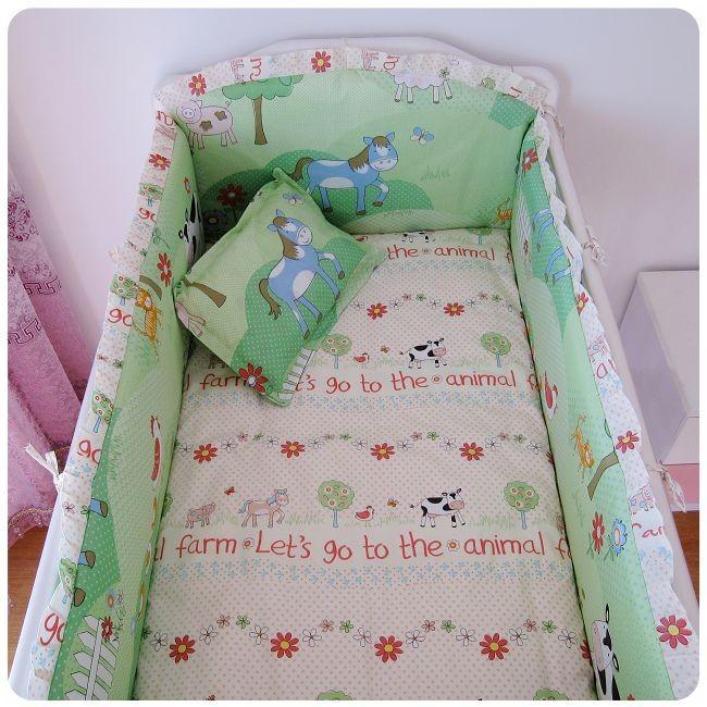 Продвижение! 6 шт. детские постельных принадлежностей 100% хлопок занавес