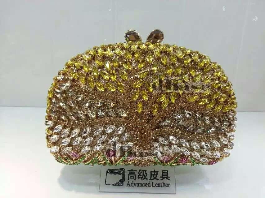 Фотография TREE color-A Crystal Lady fashion Wedding Bridal hollow Metal Evening purse clutch bag handbag