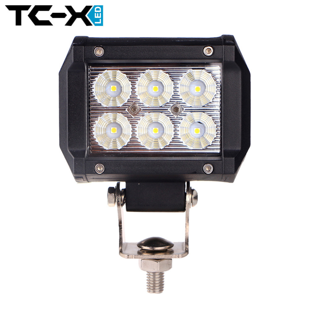 """TCX 4"""" inch 18W Mini Light Bar LED Working Driving Lights Lumileds Chip for Motorcycle Tractor Boat Offroad 4WD Truck Wholesale(China (Mainland))"""
