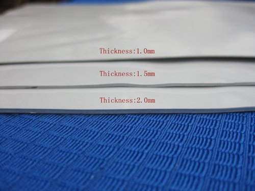 Free shipping! Lot of 5 sheets of Silver VGA CPU Chipset Thermal conductive Pad with 0.3/0.5/1.0/1.5/2.0mm different thickness