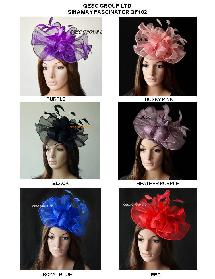 NEW COLOURS.Big Sinamay fascinator hat with feather flowers for kentucky derby,melbourne cup,ascot races, wedding.(China (Mainland))