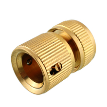 Nrand New Hot Copper Tube Snap Adaptor Fitting Garden Outdoor Metal Threaded Hose Water Pipe Connector(China (Mainland))