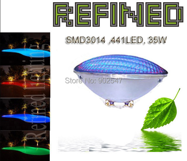 Par56 led swimming pool light 35W SMD3014 441LED  multi color with free shipping