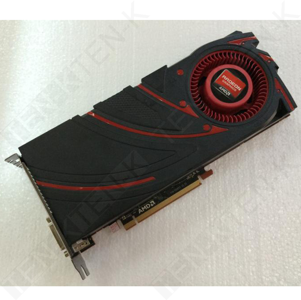 Used ATI Radeon R9 270X 2GB 256Bit 1280SP PC Graphics Card R9270X Top Performance VGA Card Against GTX660TI GTX760 HD7870(China (Mainland))