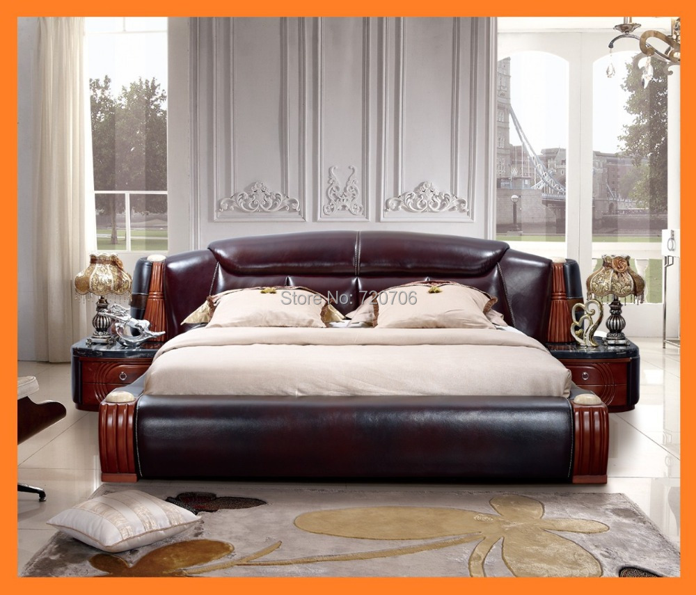 modern and luxury leather sofa bed sofa set Mini order ...