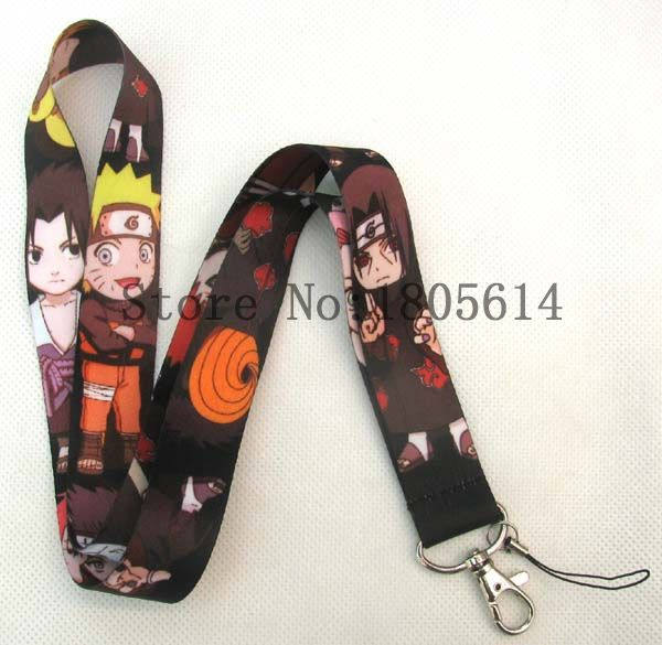 Lot 10pcs Anime Cartoon Naruto Designed LANYARD For Key Card ID Chain Neck Straps Party Gifts(China (Mainland))