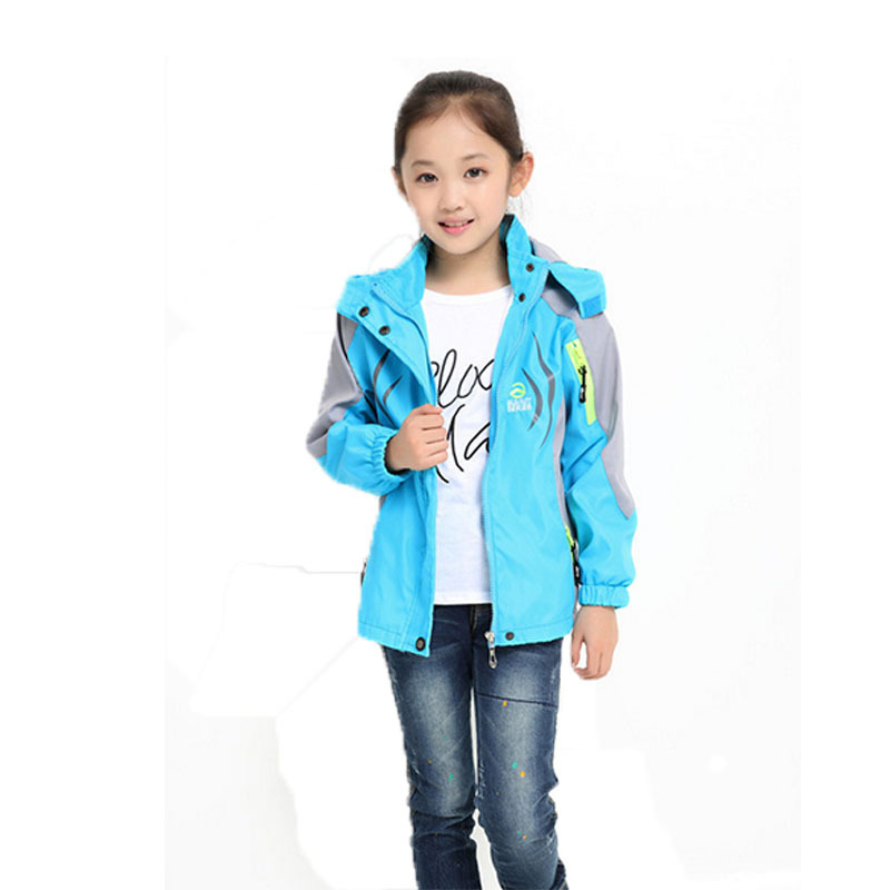 Girls Long-Sleeve Mixed Colors Printing Mountaineering Coat Kids Casual Hooded Manteau New Arrival Children Coat 2015 ED120