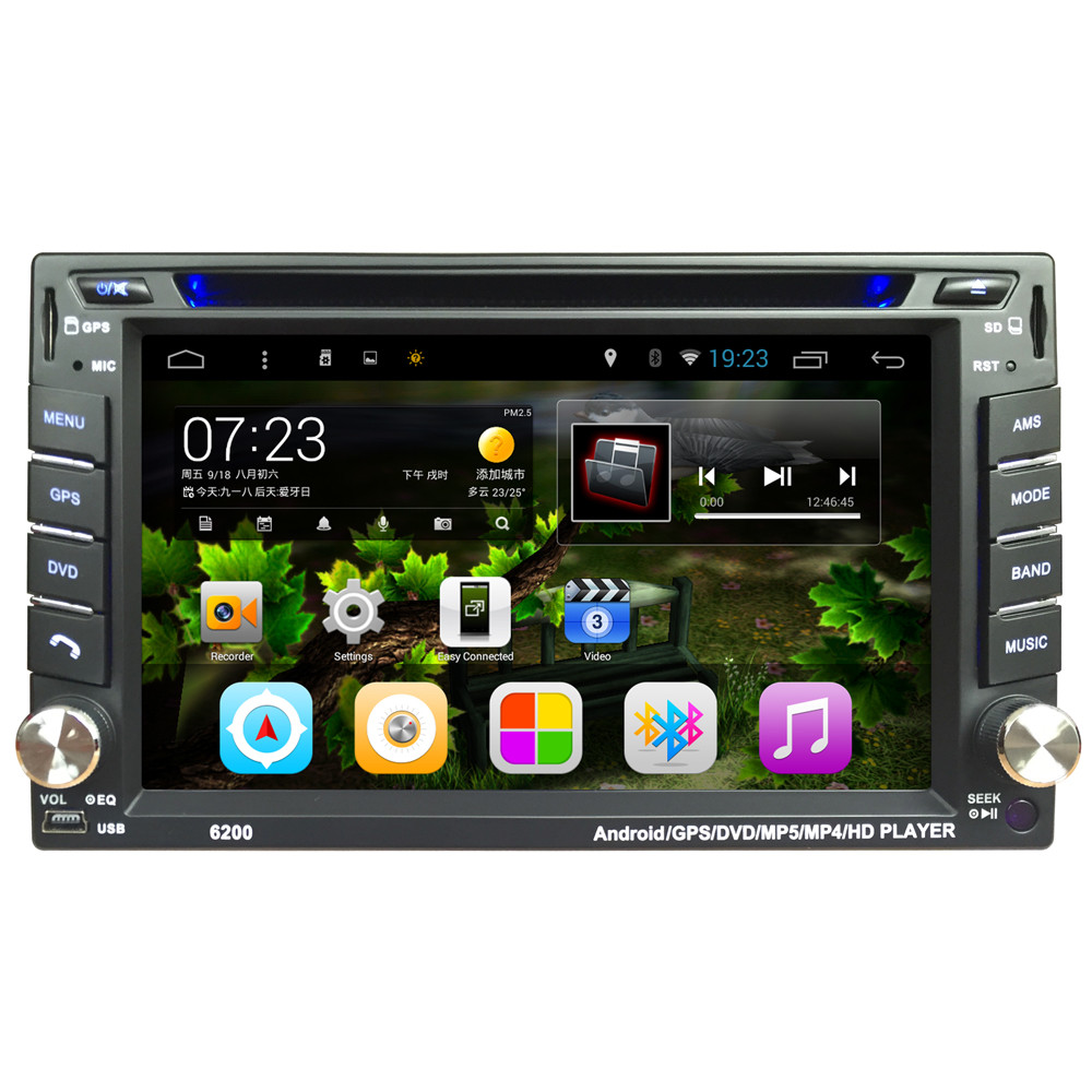 AUTO 6.2 In Android 4.4 Car Video Player DVD Touch Screen Bluetooth Stereo Radio Car MP5 Audio USB Auto Electronics In DashJAN22