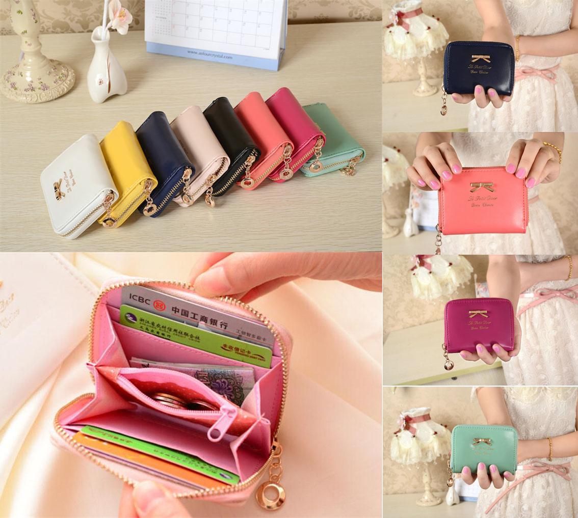 Korean Cute PU Leather Small Ladies Girls Coin Card Holder Wallet Money Storage Pouch Female Clutch Mini Purse Women - Selenda Fashion Store store