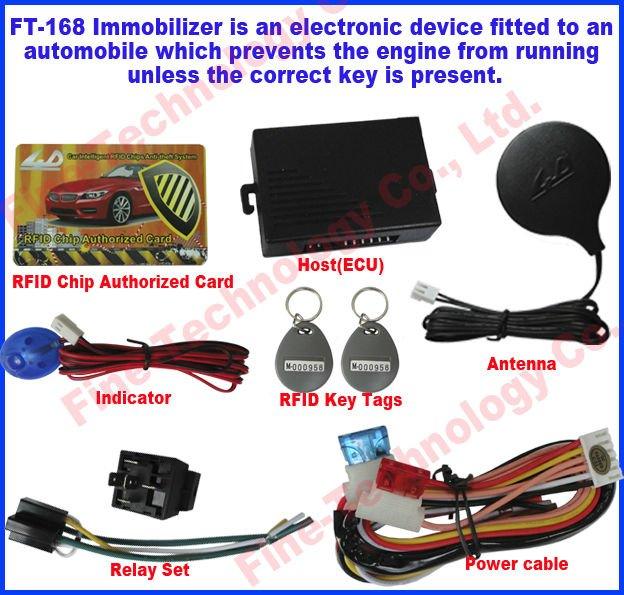 conceal installation 12voltage 125KHz frequency RFID tag fob relay car immobilizer(China (Mainland))
