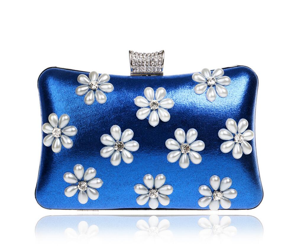 New 2016 Luxury Diamond Evening Bags Beaded Clutch Bag Purse Chains Handbag 5 color Bride Party Purse Clutches W731(China (Mainland))