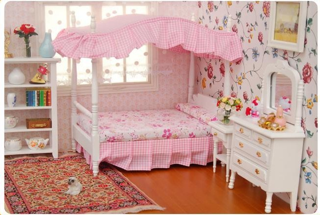 buy dollhouse miniature bed 3