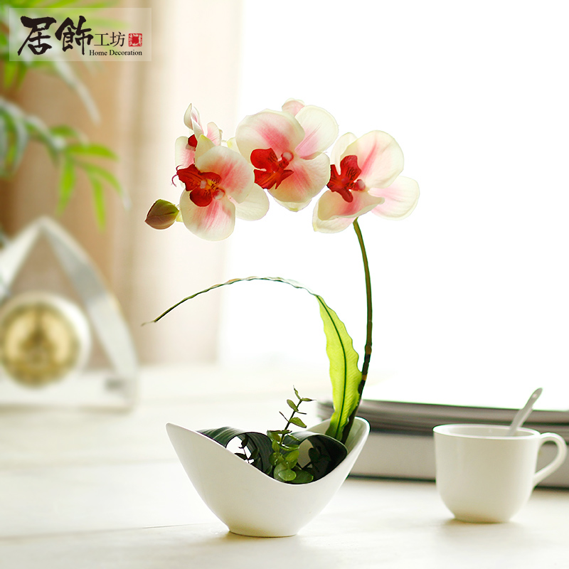 resin flower living room dining table decoration flower pot decoration
