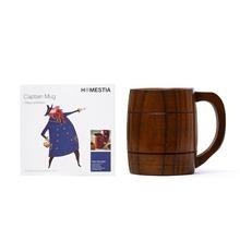 Eco Friendly Handcraft DIY Wooden Milk Coffee Mug Jujube Wood Tea Cup Beer Tumbler Mug w/ Handle Water Cup Good for Health(China (Mainland))
